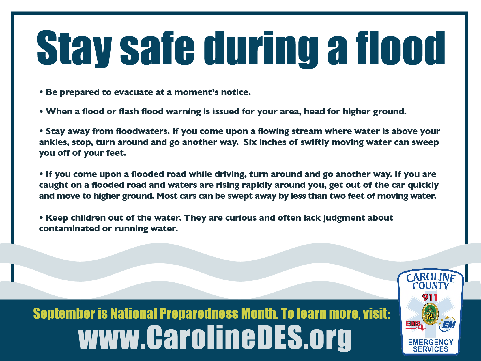 National Preparedness Month Posts - Stay Safe During Flood